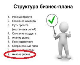 Бизнес-план - оценить риски на стадии планирования