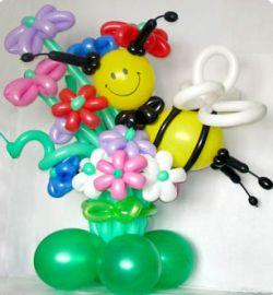 Фигуры и цветы и из воздушных шариков