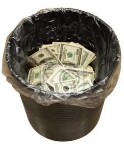 уходят деньги в ведро