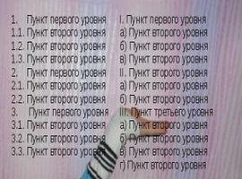 Многоуровневый список всех дел