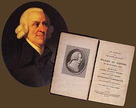 Труды Адама Смита портрет с книгой