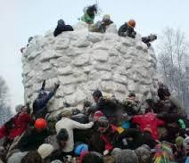 Зимний бизнес на снежной крепости
