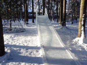 бизнес зимой на ледяных горках
